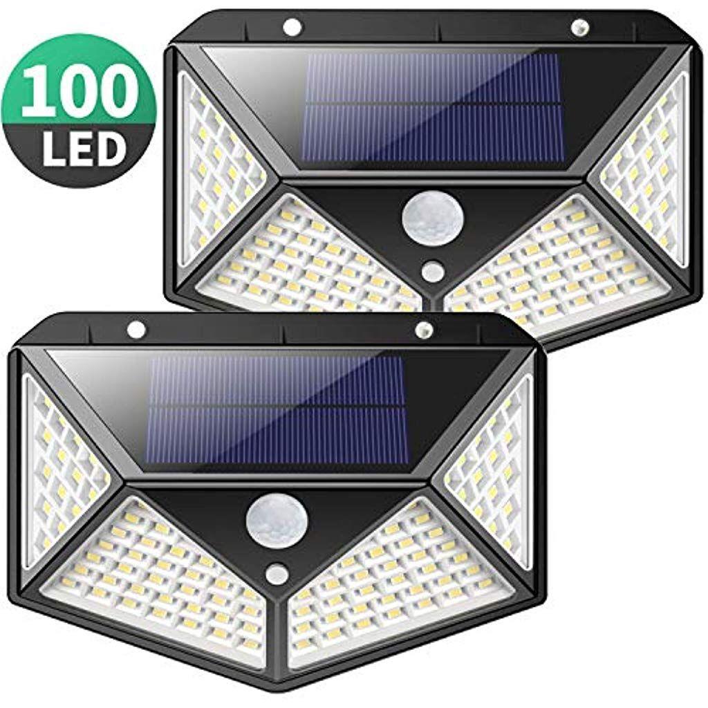 Lampe Solaire Extérieur 100 Led Kilponen 2 Pack Éclairage ... serapportantà Lampe Solaire Jardin Puissante