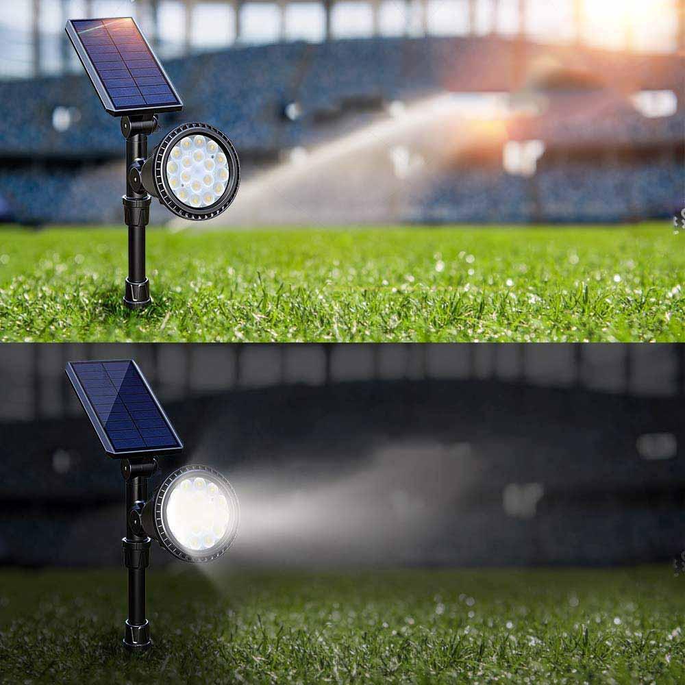Lampe Solaire Sur Piquet - Luminaire Solaire intérieur Lampe Solaire Jardin Puissante