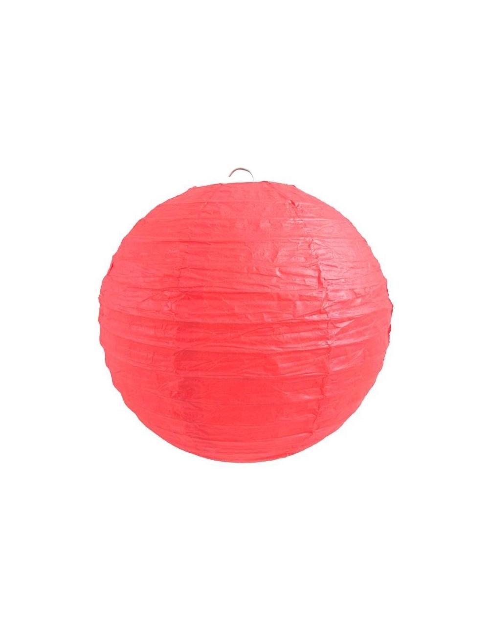 Lanterne Japonaise Papier 25Cm Rouge pour Lanterne Japonaise Pas Cher