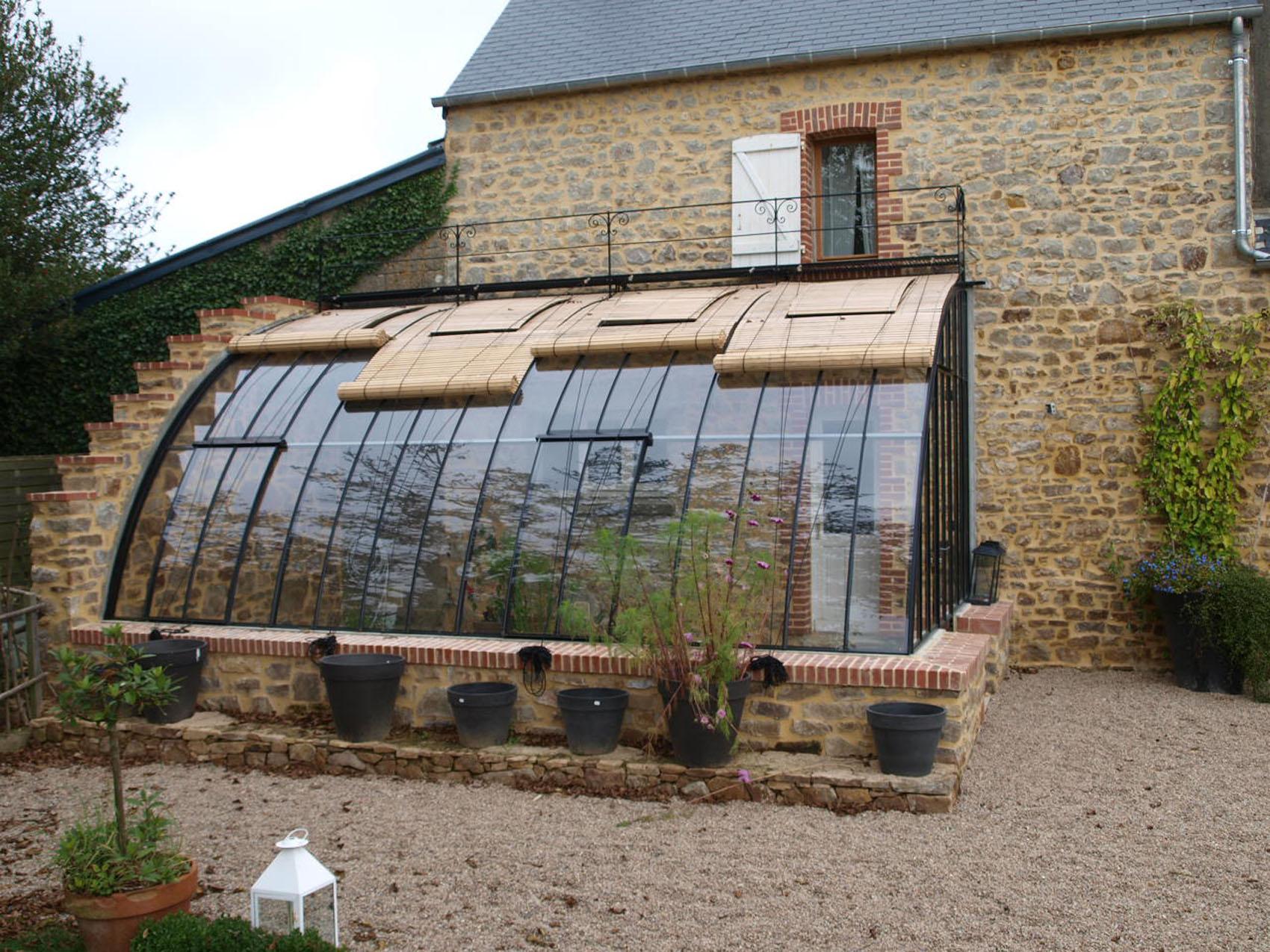 Lean-To Greenhouses   Serres Et Ferronneries D'antan tout Serres Adossées