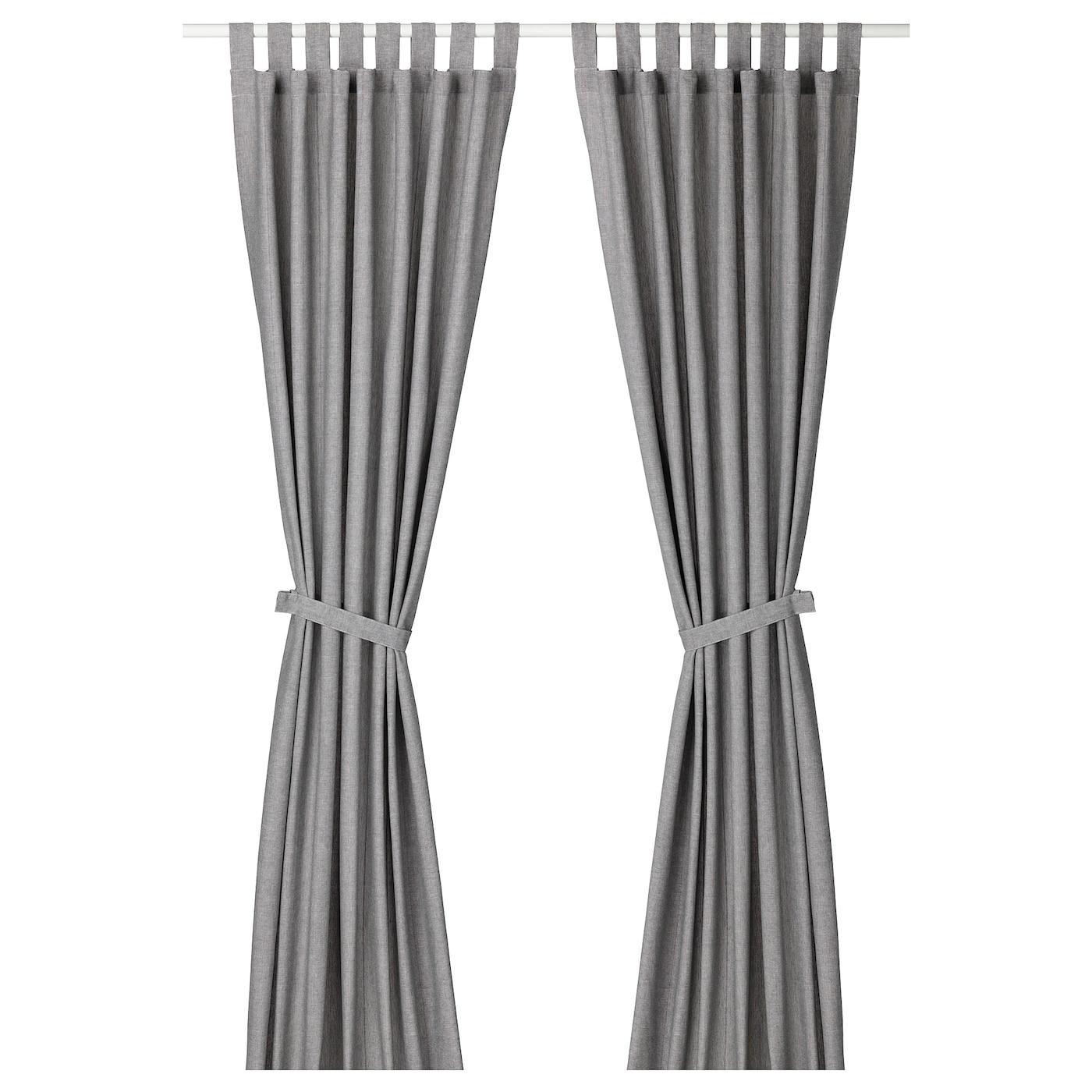 Lenda Rideaux+Embrasses, 2 Pcs - Gris 140X300 Cm dedans Armoire De Jardin - Ikea