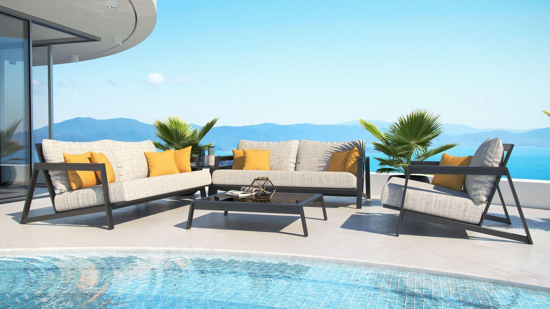 Leonardo | Garden Furniture Design, Luxury Lounge Furniture ... serapportantà Table De Jardin Hyper U