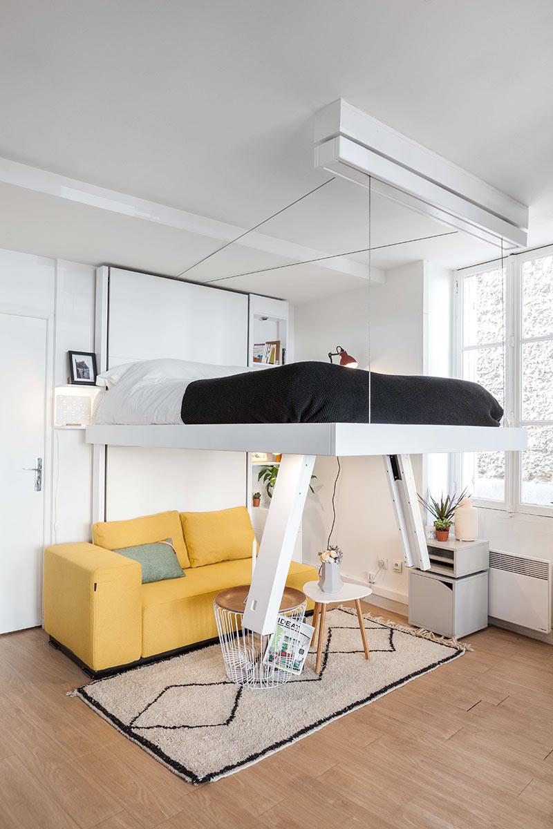 Lit Suspendu Vision : Design Et Gain De Place - Bedup® avec Lit Suspendu