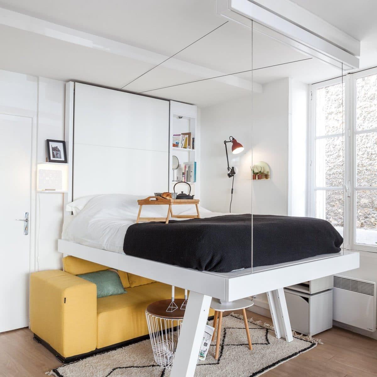Lit Suspendu Vision : Design Et Gain De Place - Bedup® dedans Lit Suspendu