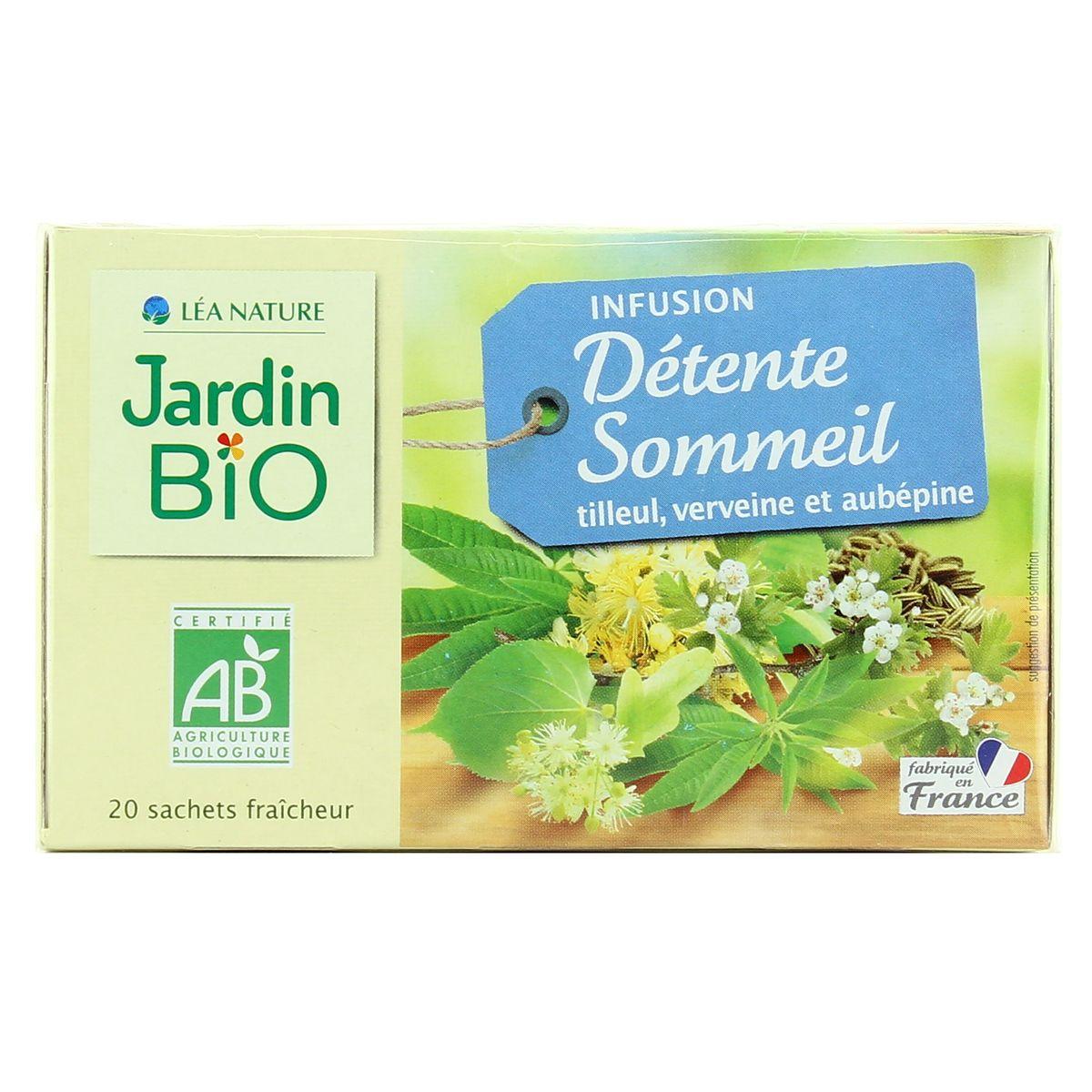 Livraison À Domicile Jardin Bio Infusion Détente Sommeil, 20 Sachets avec Infusion Jardin Bio