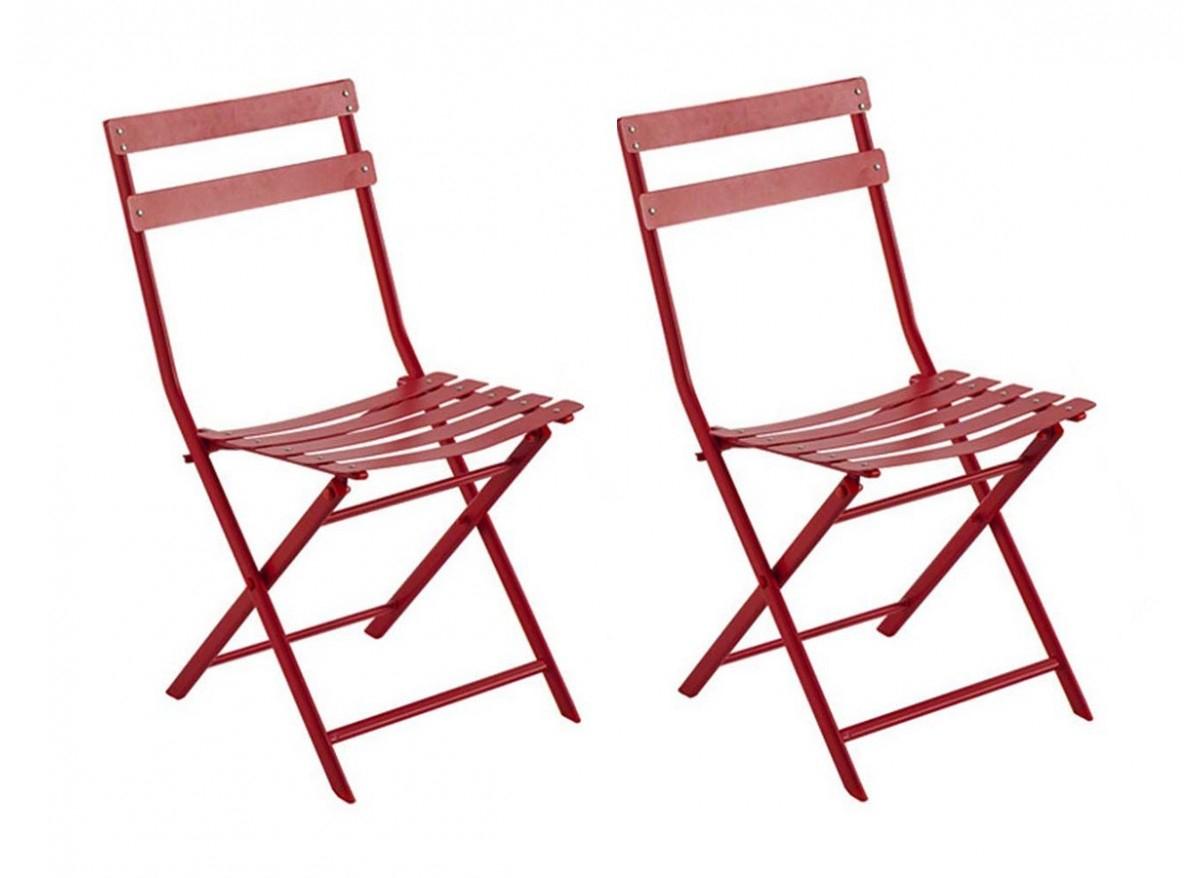 Lot De 2 Chaises De Jardin Métal Pliante Greensboro Hespéride encequiconcerne Chaise De Jardin Metal Pliante
