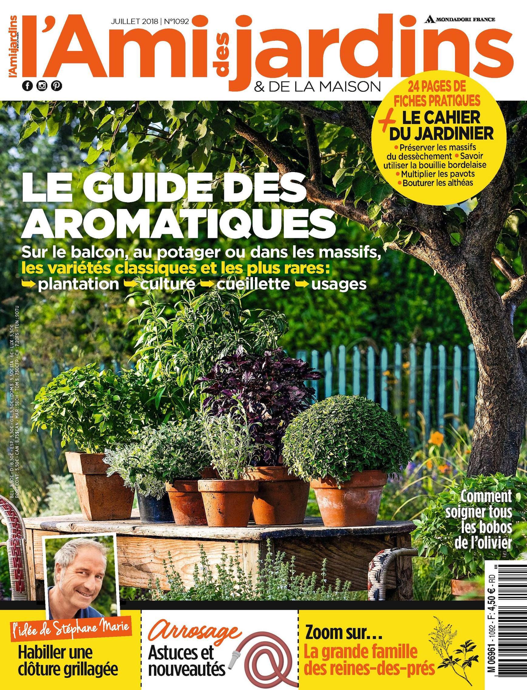 Magazine L'ami Des Jardins Et De La Maison N°1092 - Juillet 2018 tout Ami Des Jardins Magazine