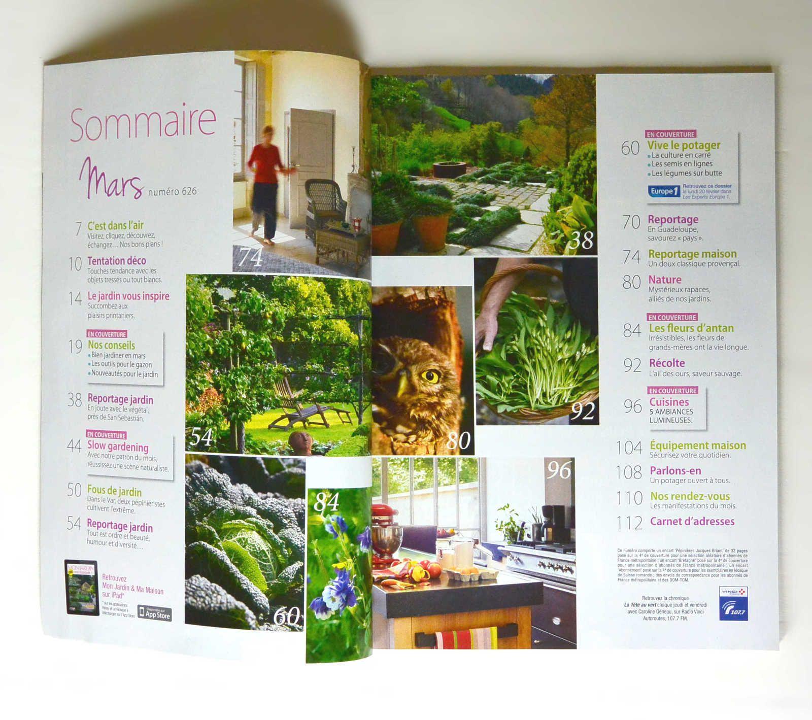 Magazine «Mon Jardin, Ma Maison» N°626 Mars 2012 - Mon Petit ... destiné Abonnement Mon Jardin Ma Maison