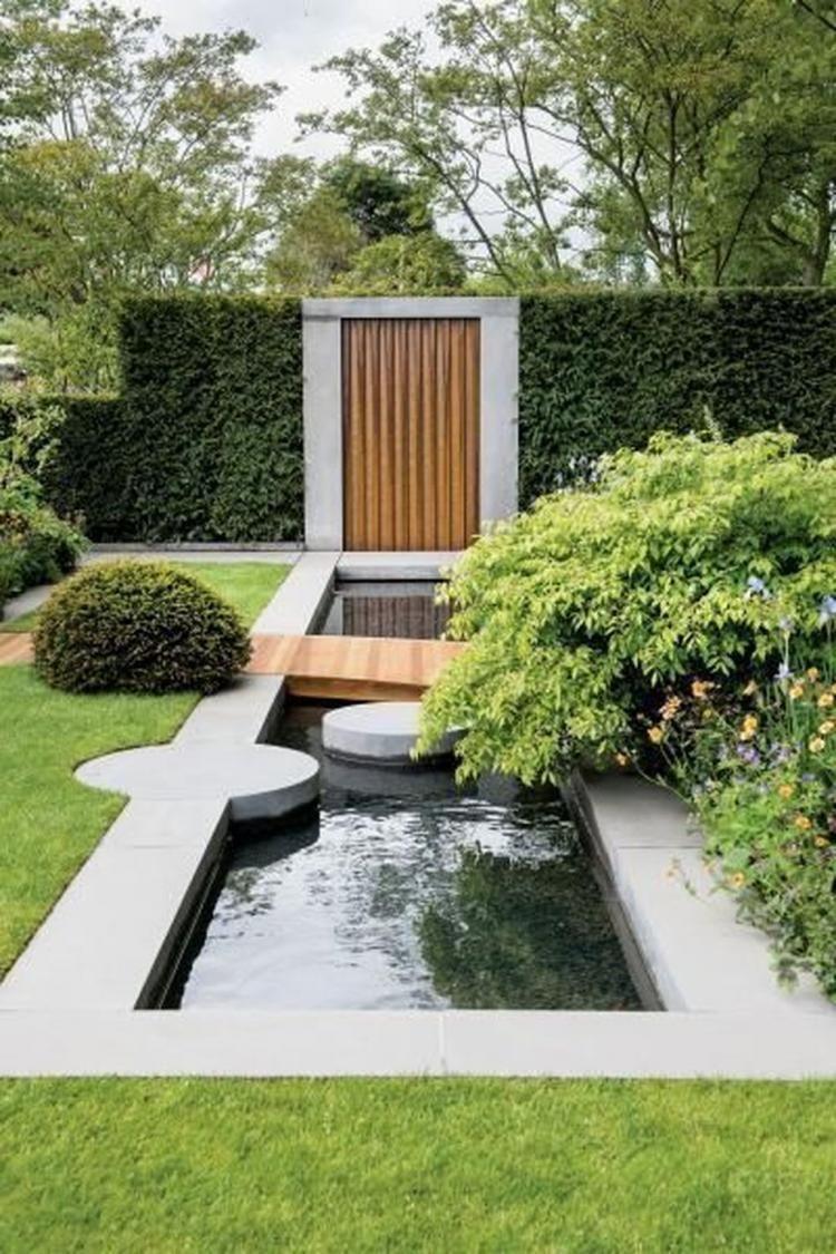 Magnifique Moderne Arrière-Cour Aménagement Paysager De La ... concernant Bassin De Jardin Moderne