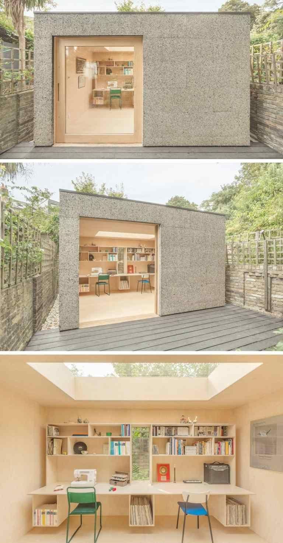 Maison De Jardin Habitable- 14 Abris Aménagés En Bureaux Ou ... destiné Studio Jardin Habitable