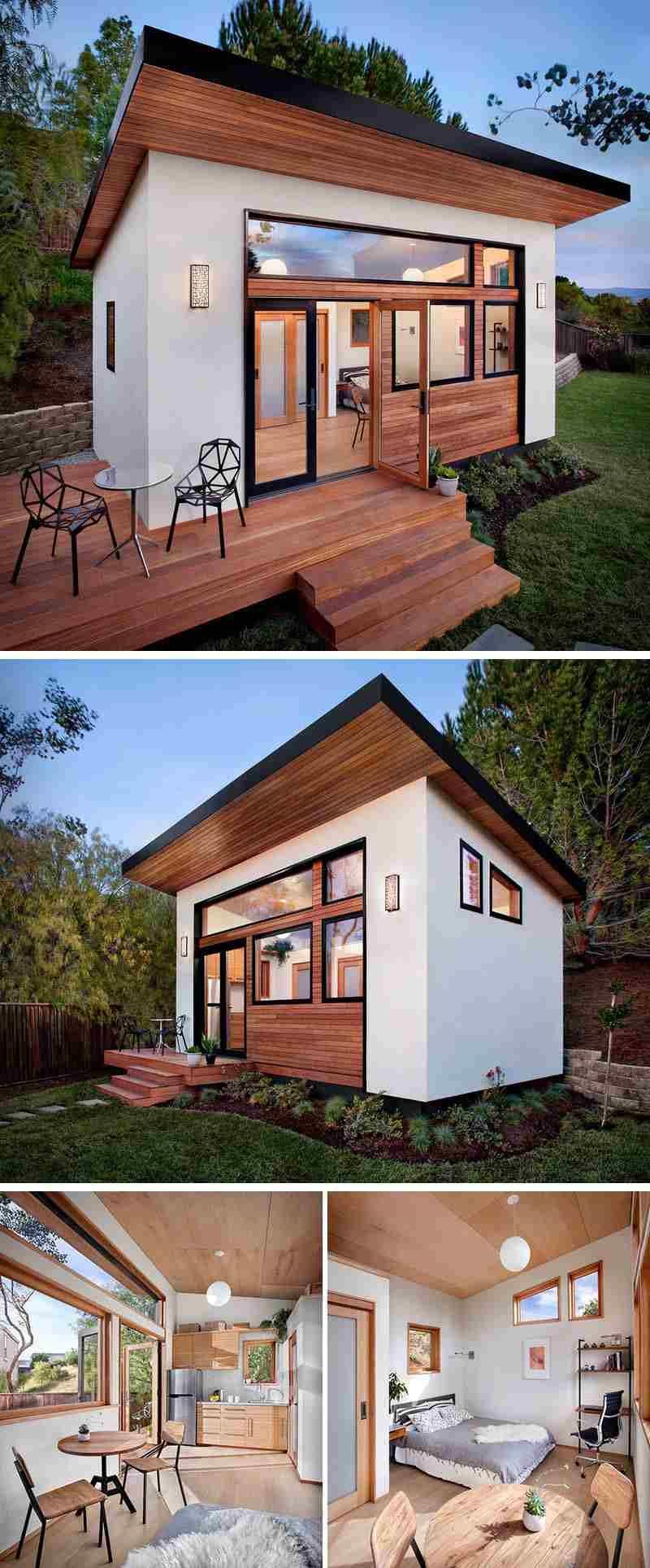 Maison De Jardin Habitable- 14 Abris Aménagés En Bureaux Ou ... intérieur Studio Jardin Habitable