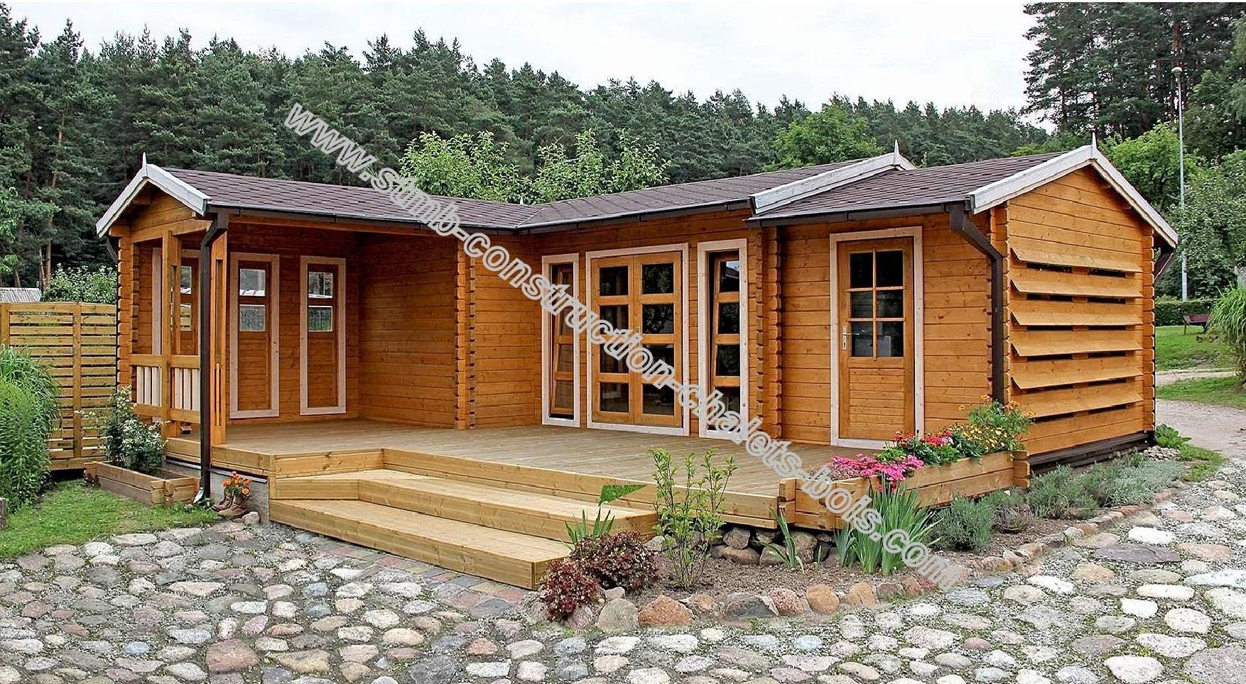 Maison En Bois En Kit 70M2 - Le Meilleur Des Maisons Bois En ... destiné Bungalow Bois En Kit
