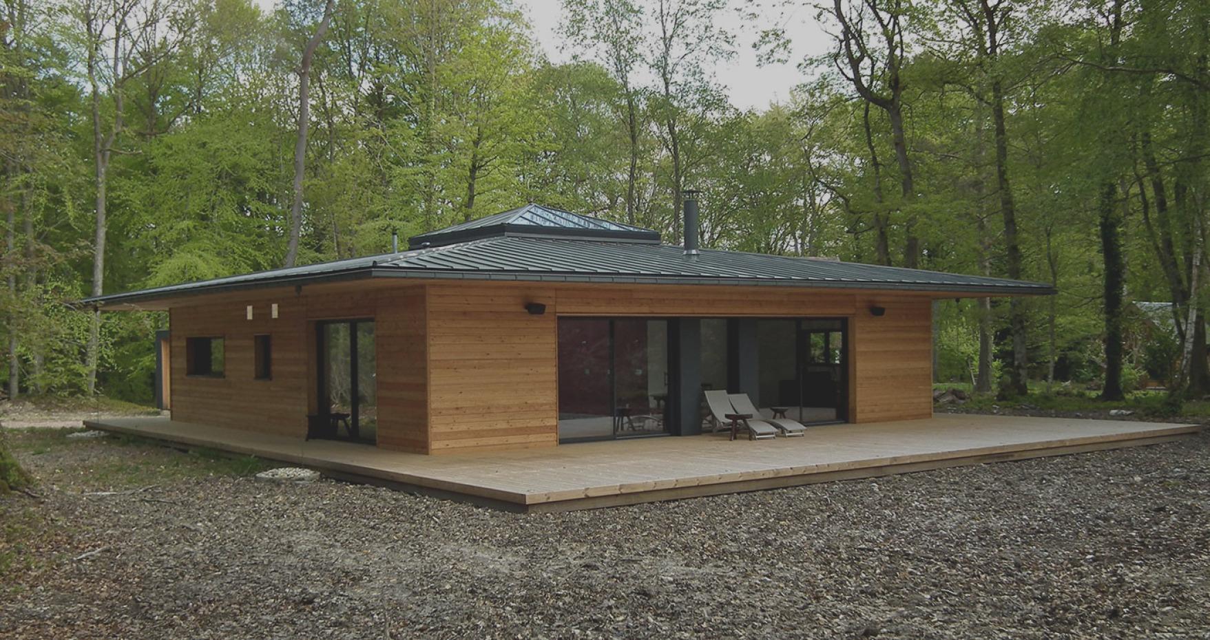Maison En Bois En Kit 70M2 - Le Meilleur Des Maisons Bois En ... encequiconcerne Bungalow Bois En Kit