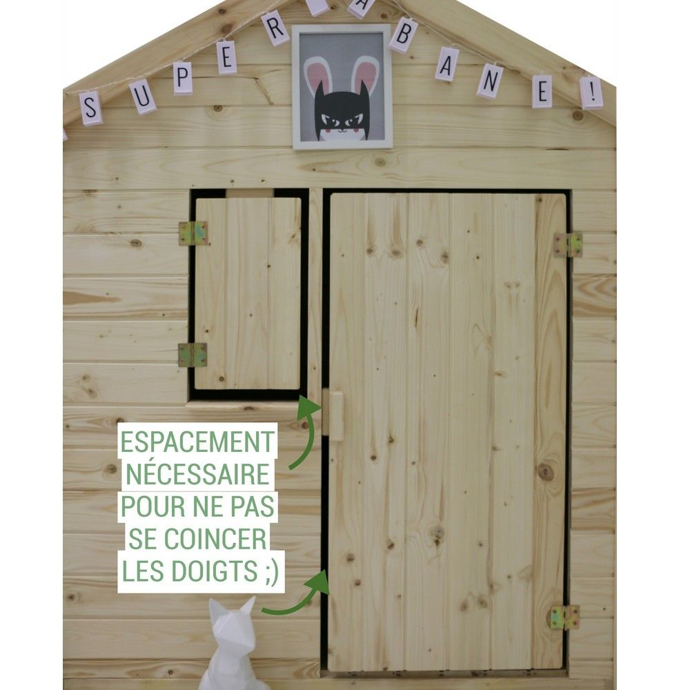 Maisonnette Enfant Bois Alpaga Avec Pergola concernant Maisonnette Enfant Bois Alpaga Avec Pergola