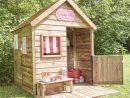 Maisonnette Enfant Bois Traité Heidi Avec Terrasse + Banc intérieur Maisonnette De Jardin Enfant