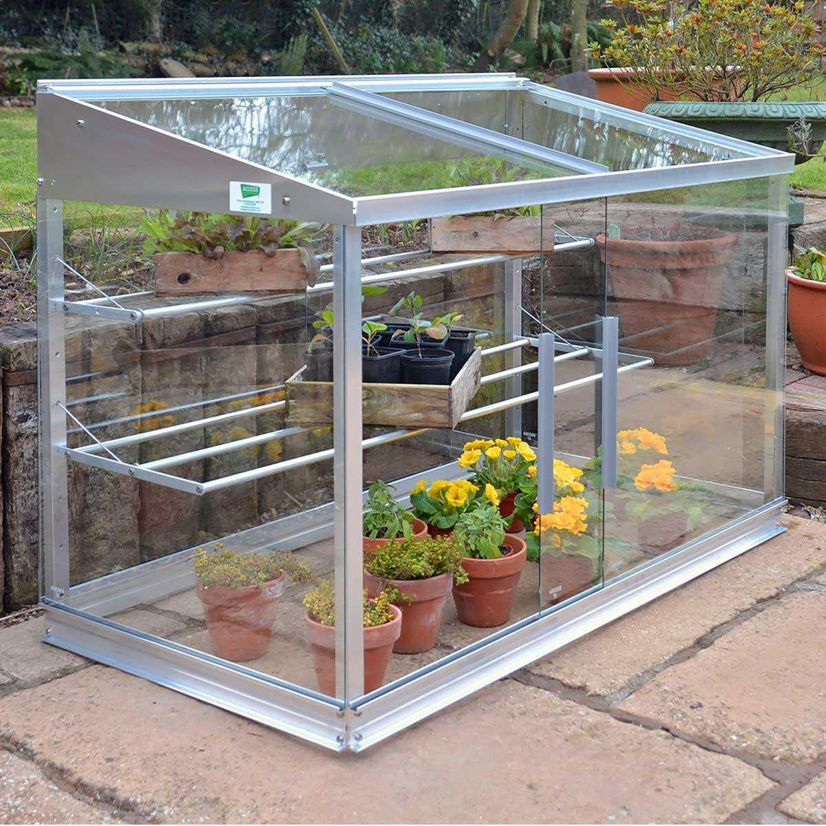 Mini Serre En Verre Et Aluminium 0.80M2 dedans Fabriquer Une Mini Serre De Jardin