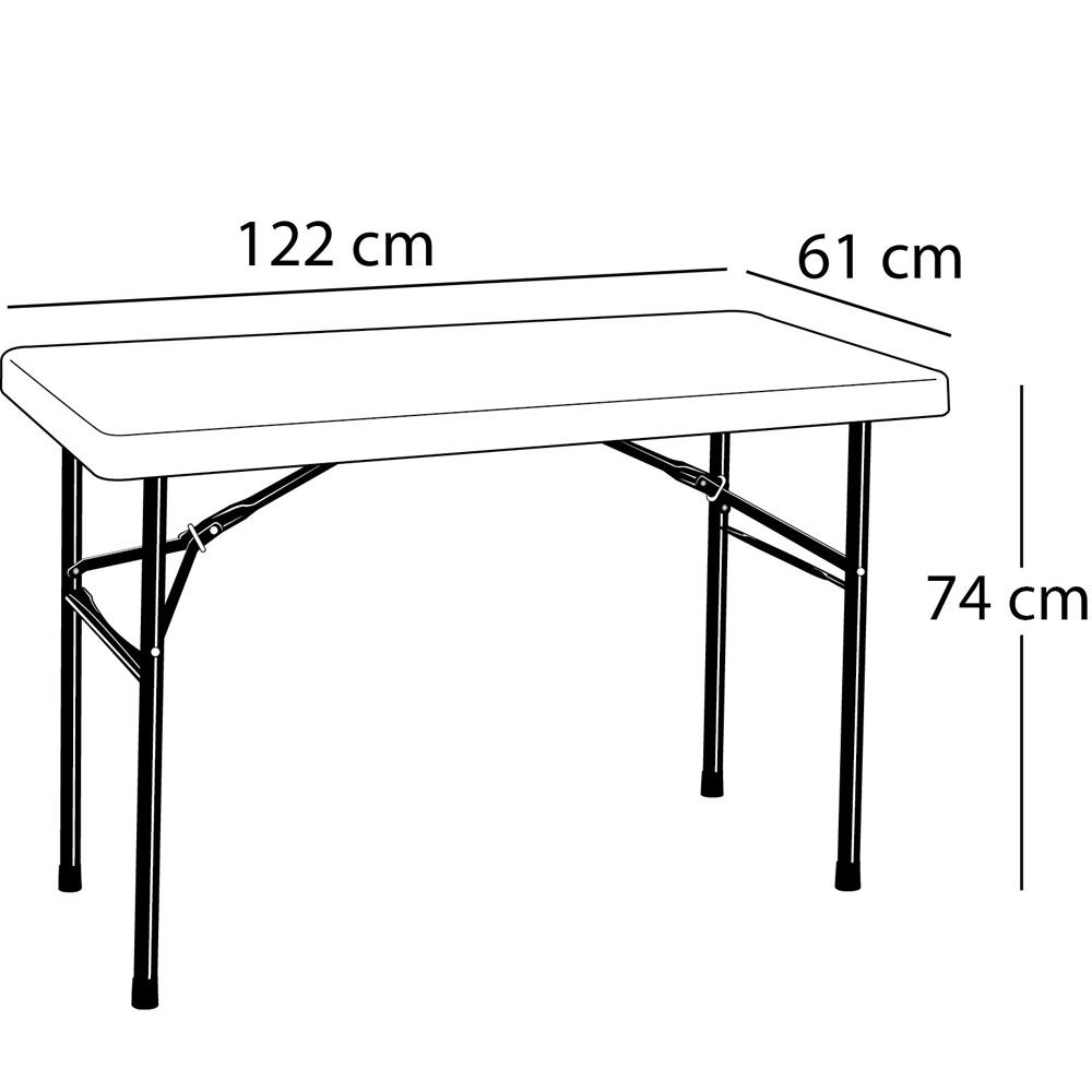 Mobilier De Jardin Tables Table Pliante Rectangulaire 122Cm ... à Table Jardin Pliante