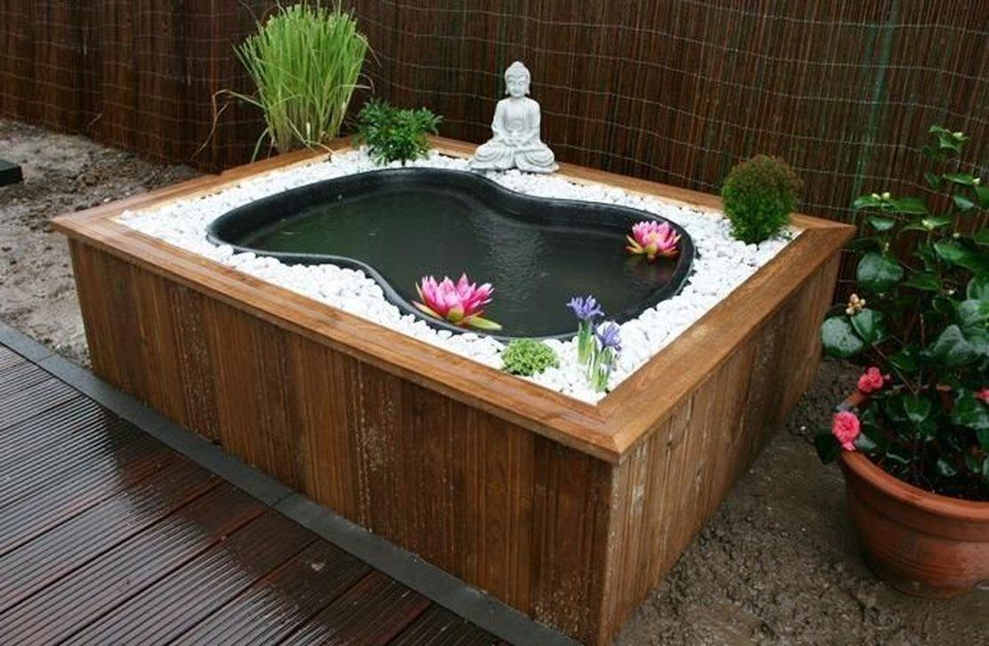 Modern Backyard Fish Pond Garden Landscaping Ideas | Jardin ... tout Bassin De Jardin Moderne