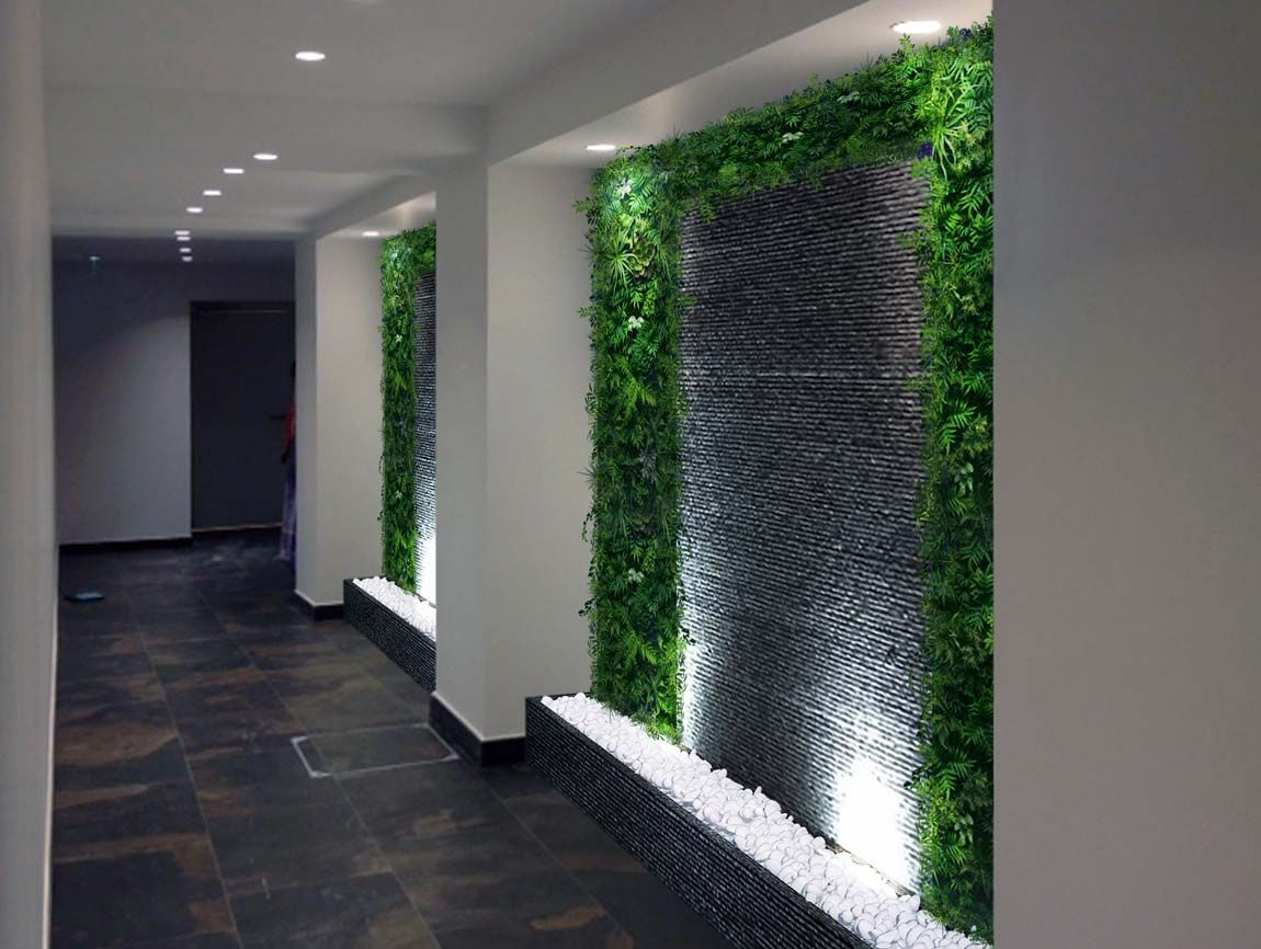 Murs D'eau Sur Mesure (Con Imágenes) | Decoración De Garaje ... intérieur Mur D Eau Jardin