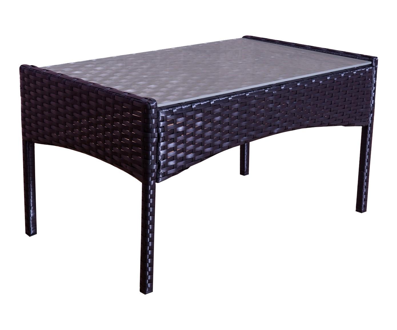 Mykonos Noir/noir concernant Table Jardin Noire