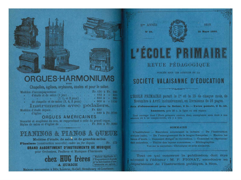 No 10 L'ecole Primaire, 15 Mars 1884 By Résonances, Mensuel ... pour Abonnement Mon Jardin Ma Maison