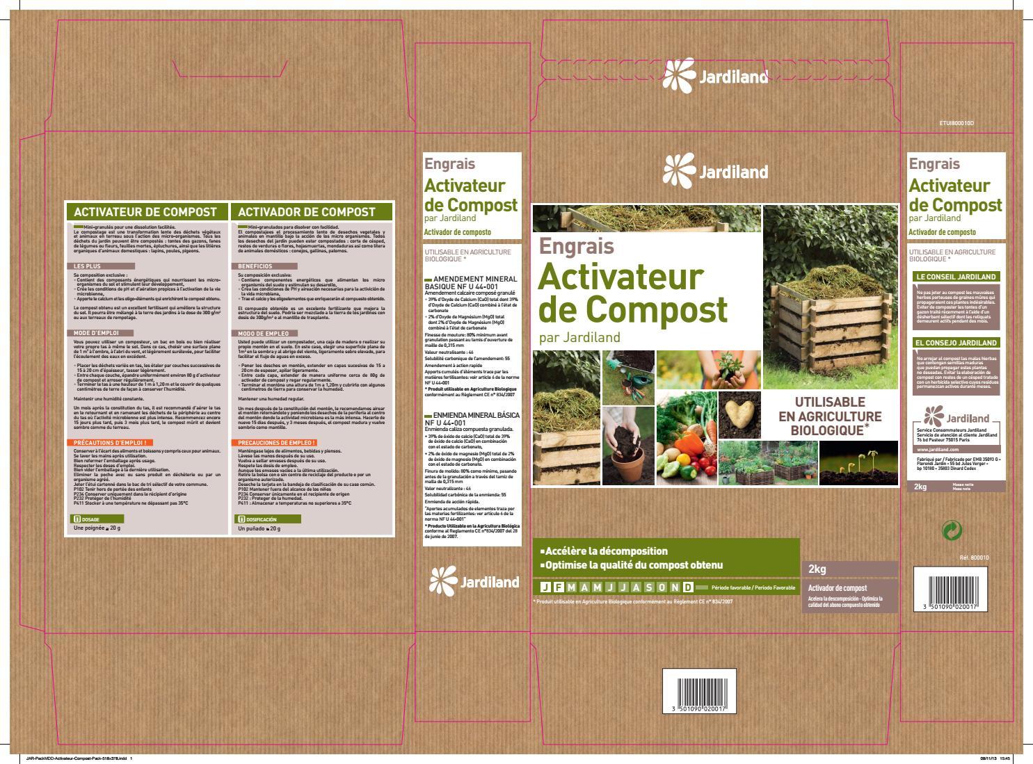 Pack Activateur Compost Jardiland By Media/blitz Conception ... pour Tamis Jardin Jardiland