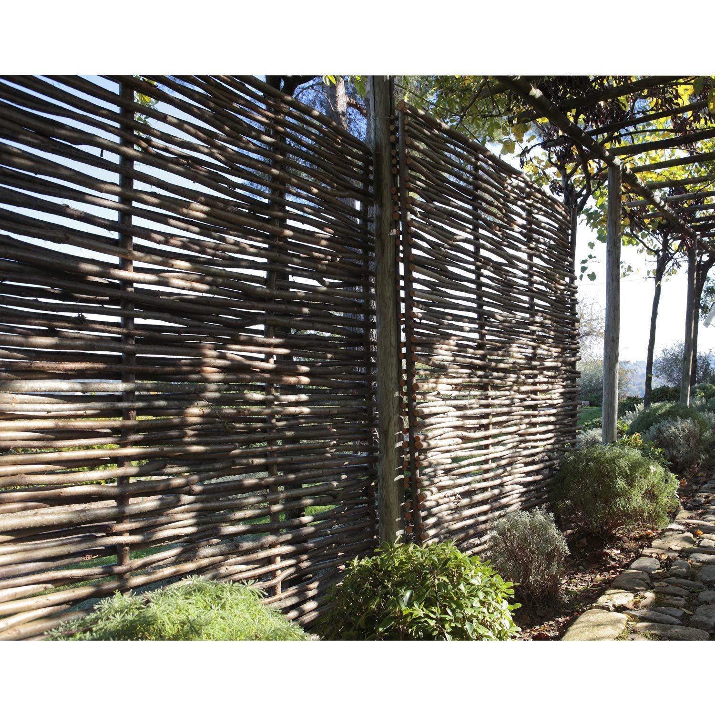 Panneau Bois Ajouré, L.150 Cm X H.180 Cm, Naturel | Jardin ... concernant Panneau De Jardin Occultant