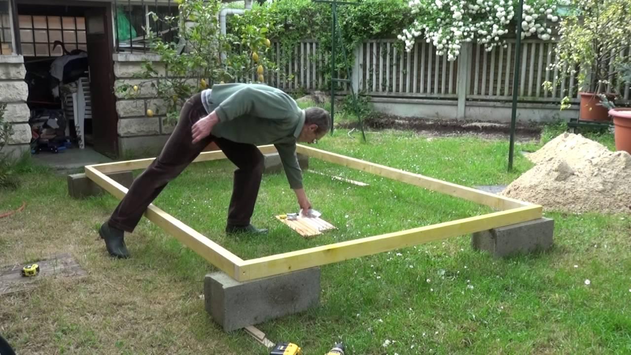 Par Philordi Reffection De Mon 1Er Abris De Jardin Phase 2 Le Cadre Du  Plancher Partie 1 Assemblage dedans Plancher Abri De Jardin