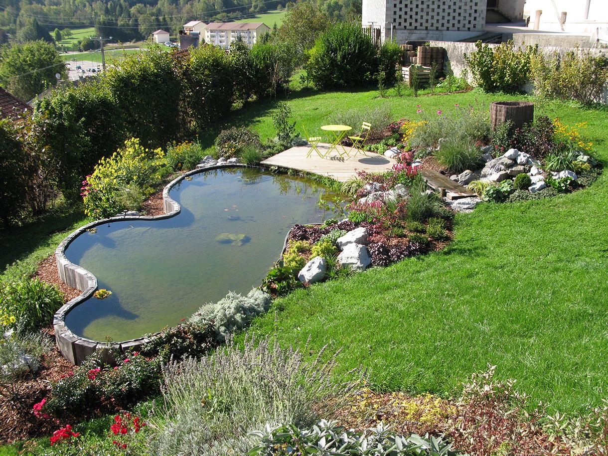 Pas-À-Pas: Créer Un Bassin Sur Un Terrain En Pente - Détente ... avec Faire Un Bassin De Jardin