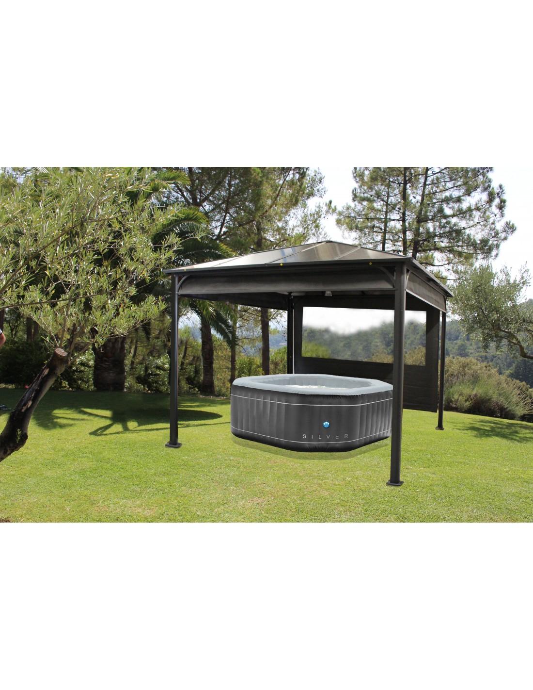 Pergolas Ideal - 3 X 3 M - Aluminium Et Toit Polycarbonate destiné Kiosque Aluminium Jardin