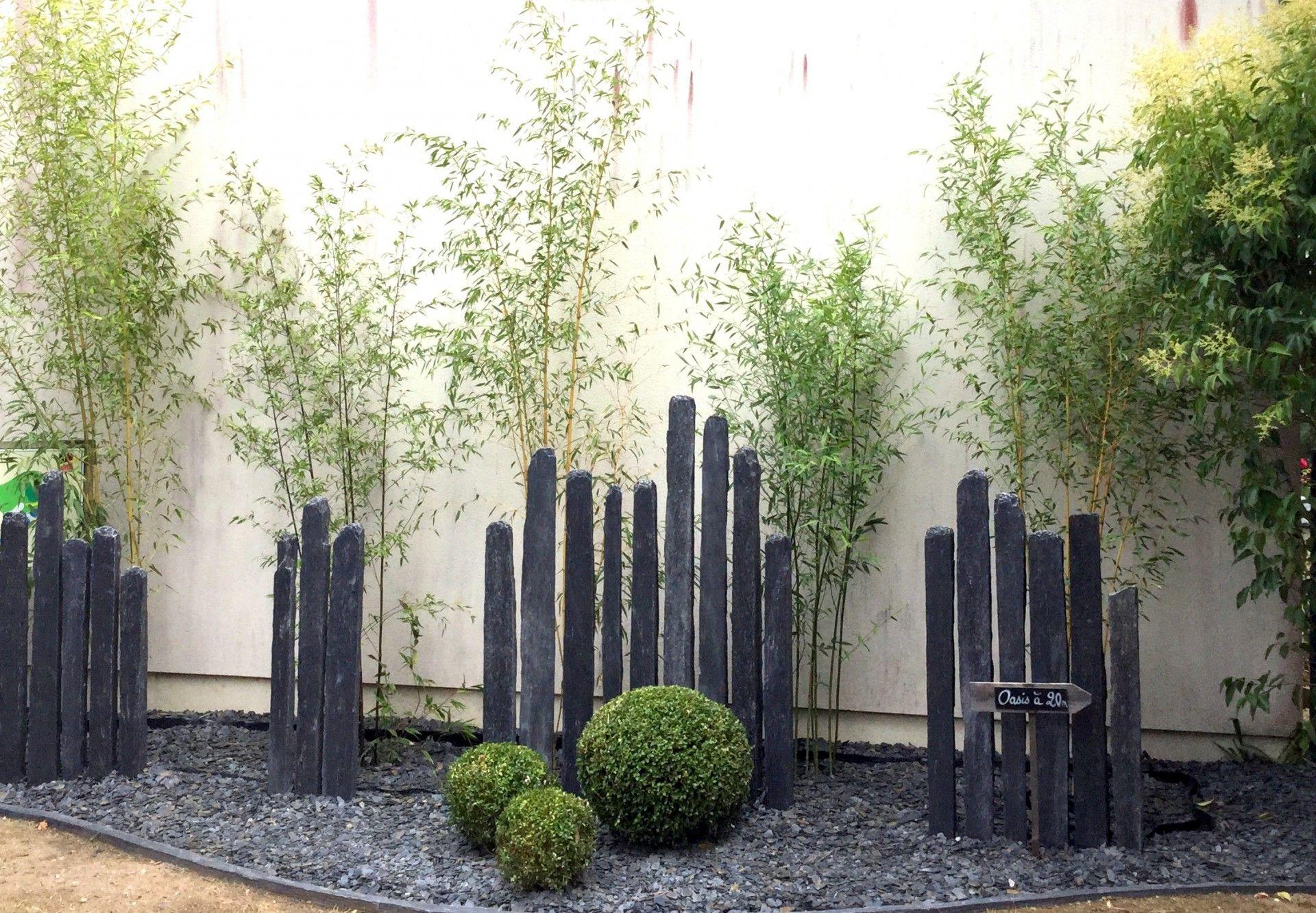 Piquet En Ardoise Bois Jardin - Recherche Google ... concernant Deco Jardin Bambou