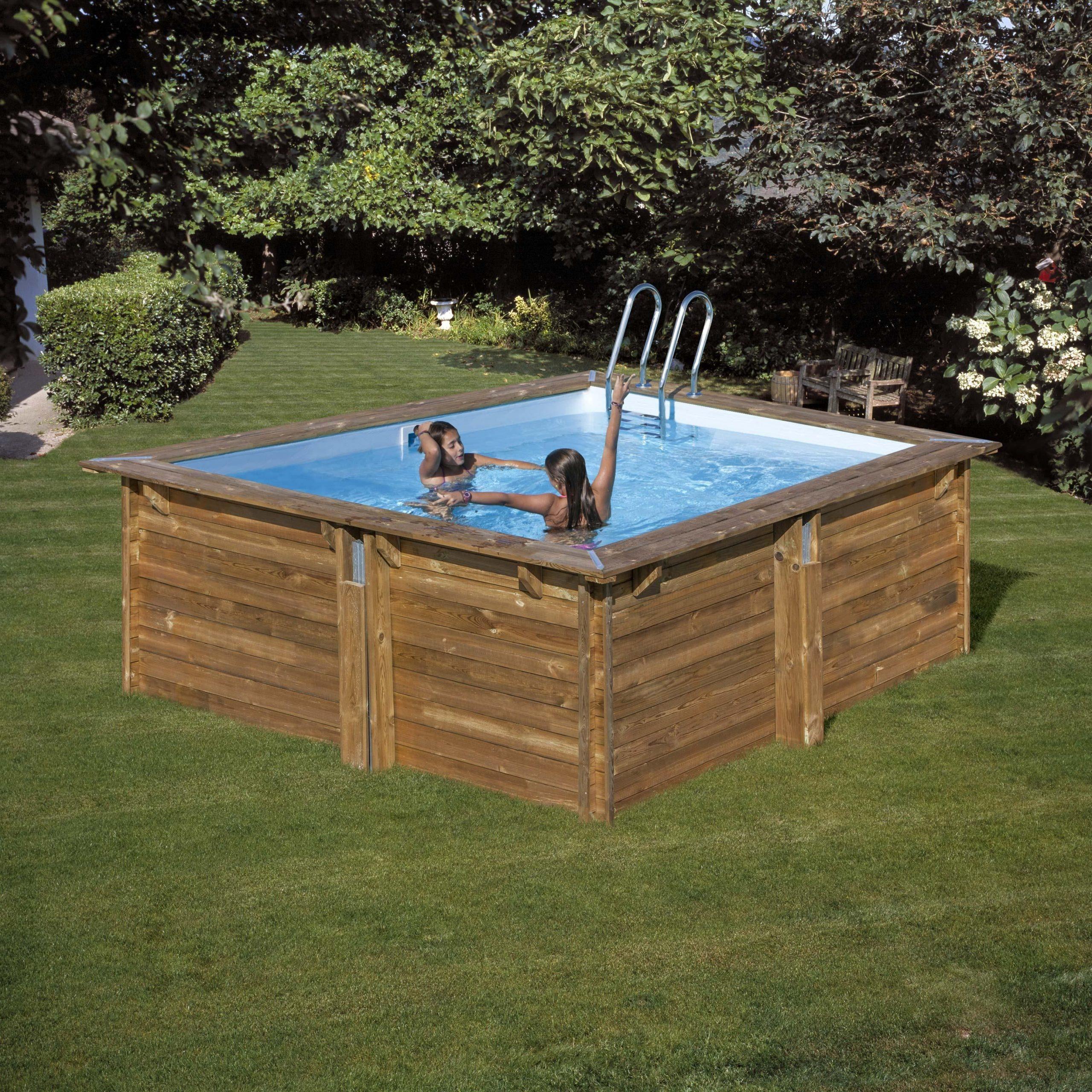 Piscine Hors-Sol Bois Carra Qp, L.3 X L.3 X H.1.19 M   Pool ... destiné Oogarden Piscine