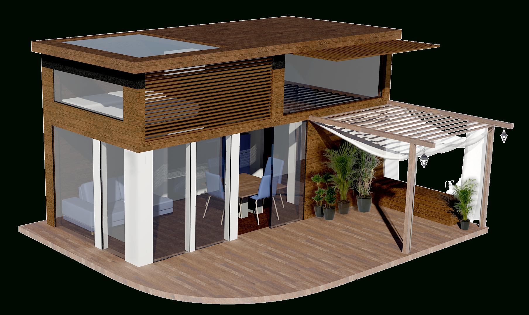Plan Maison 20M2 Avec Mezzanine | Maison Ossature Bois, Plan ... intérieur Chalet En Bois 20M2