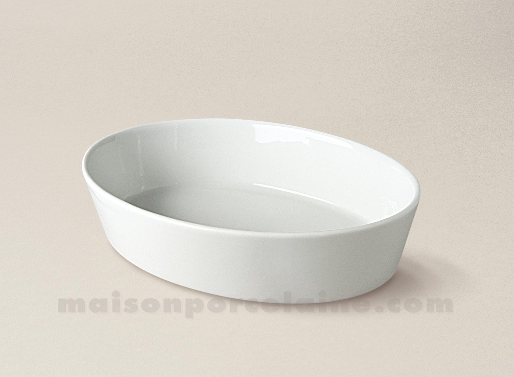 Plat A Four Ovale Sabot Individuel Porcelaine Blanche 3 ... tout Plat Sabot