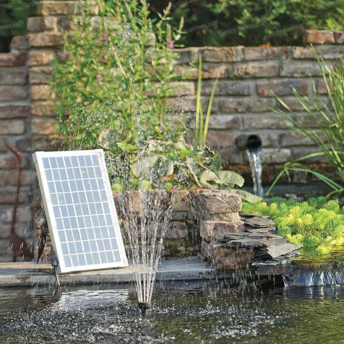 Pompe Fontaine Jets D'eau Solaire Pour Bassin encequiconcerne Fontaine A Eau Pour Jardin