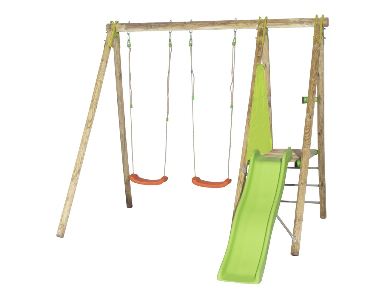 Portique, Balançoire Et Aire De Jeux Pour Enfants | Leroy Merlin pour Tyrolienne Jardin Leroy Merlin