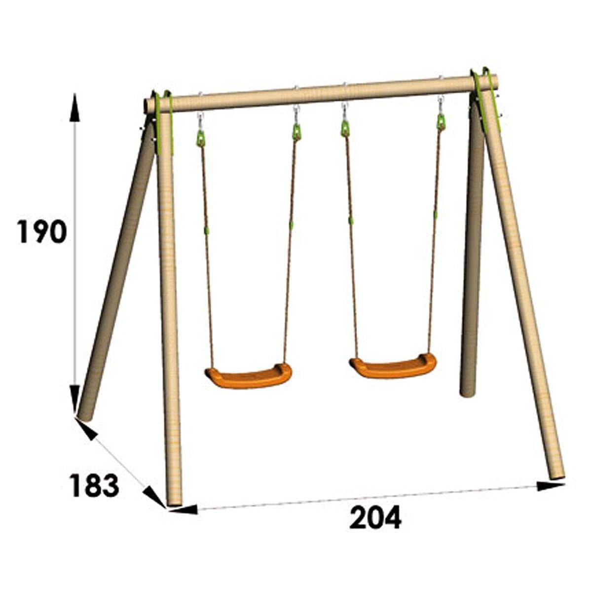 Portique Bois Juist | Swing | Balancoire Bois, Portique Bois ... destiné Balancoire Metal