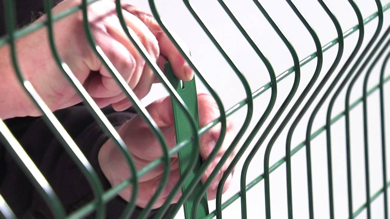 Poser Les Lattes Occultation Dirickx Sur Une Clôture En Panneaux Rigides intérieur Grillage Brico Depot