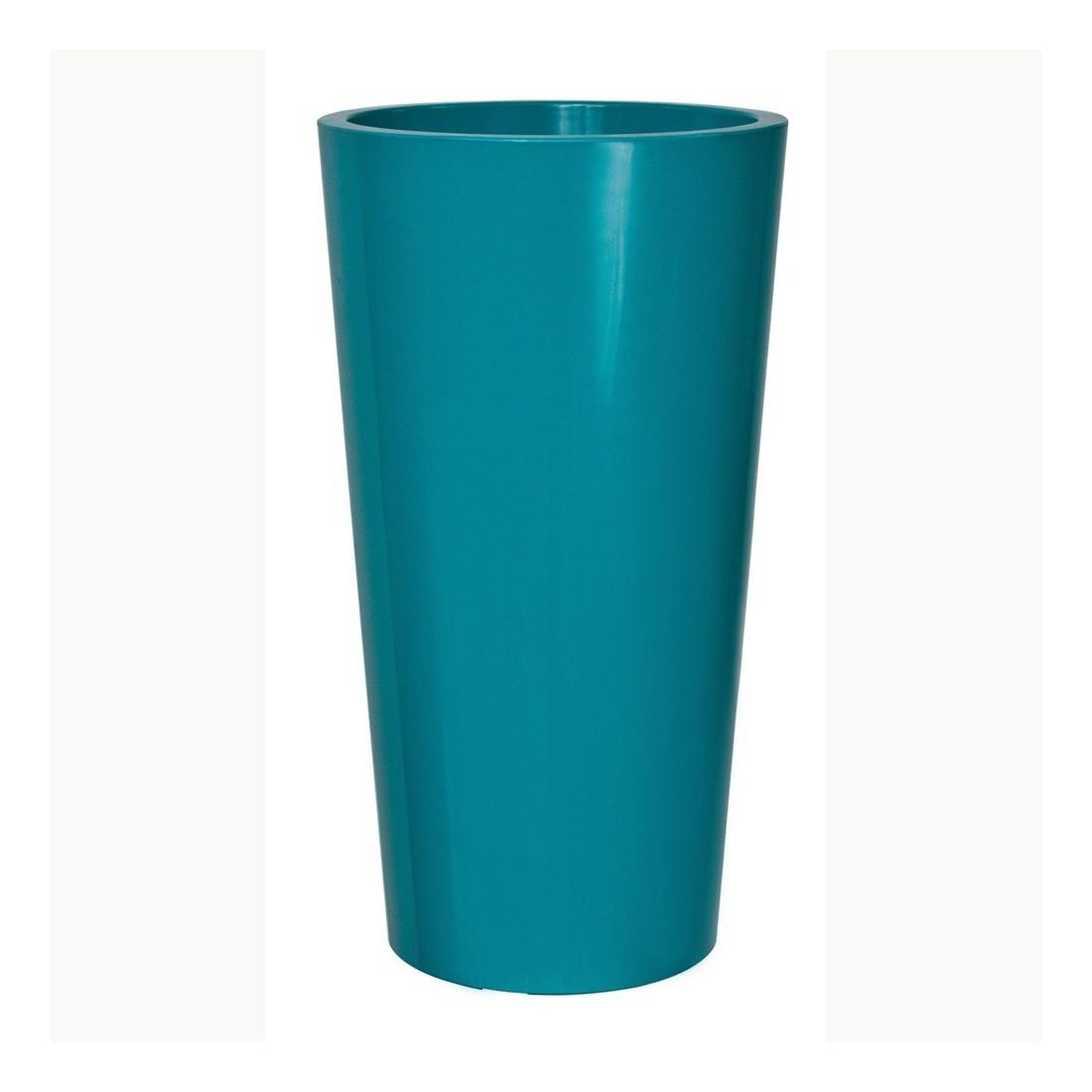 Pot Exterieur Deco Bleu Pétrole H:61Cm encequiconcerne Pot Couleur Jardin