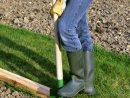 Pour Faire Une Bordure Droite   Bordure Jardin Bois, Bordure ... avec Faire Une Bordure De Jardin