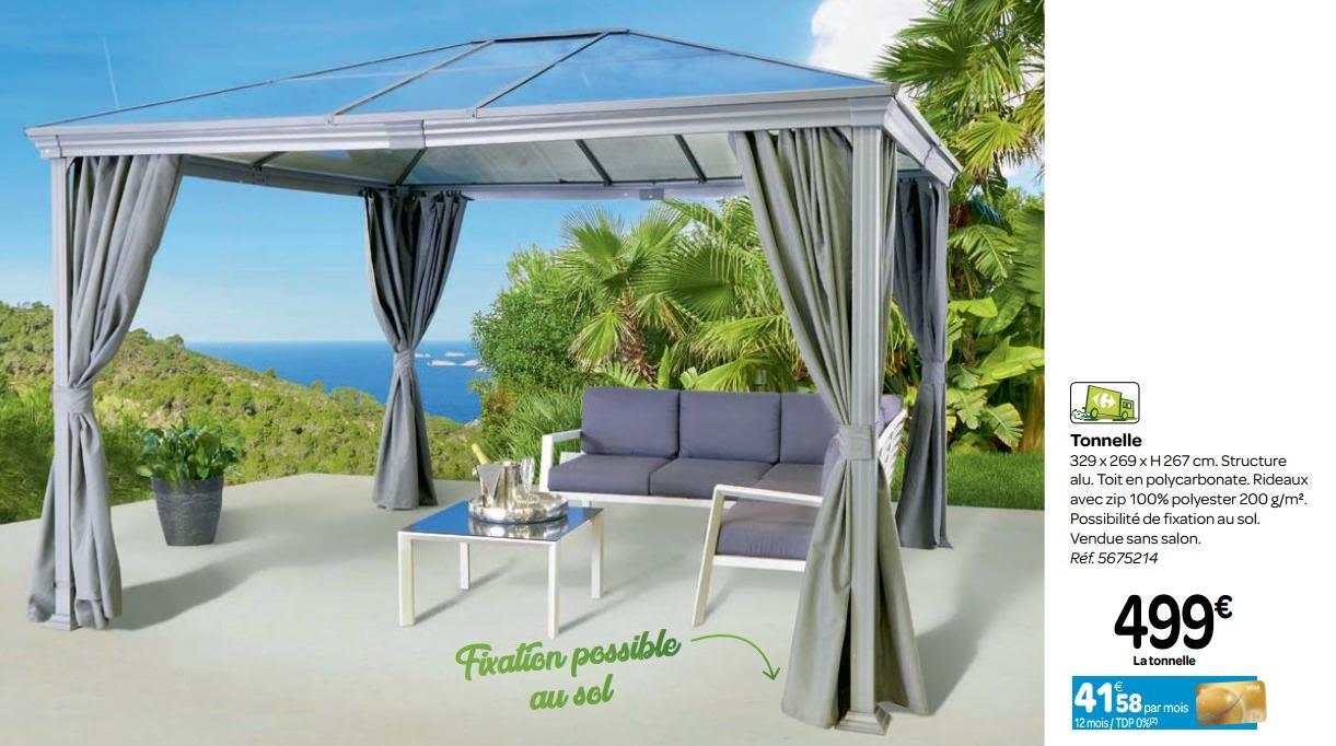 Promotion Carrefour: Tonnelle - Produit Maison - Carrefour ... serapportantà Tonnelle Carrefour
