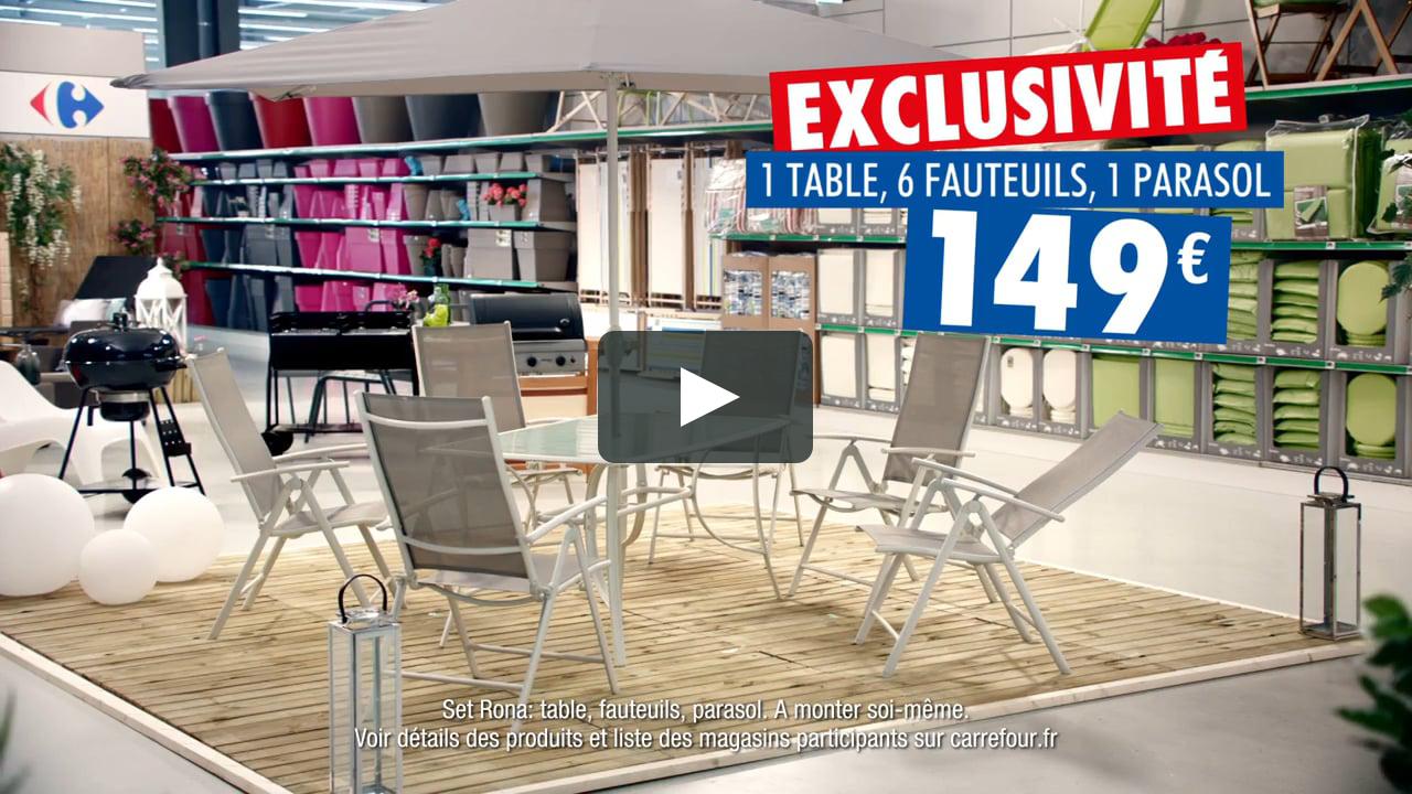 Pub Carrefour 2017 - Mobilier De Jardin Rona - Exclusité Carrefour encequiconcerne Carrefour Salon De Jardin