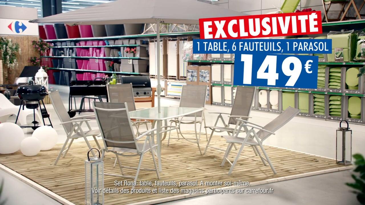 Pub Carrefour 2017 - Mobilier De Jardin Rona - Exclusité Carrefour tout Salon Jardin Carrefour