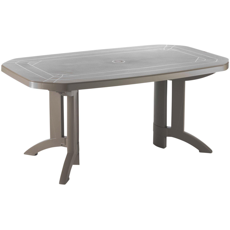 Pvc Personnes 6 Table Jardin De Fkj3Tl1Cu pour Table De Jardin Plastique