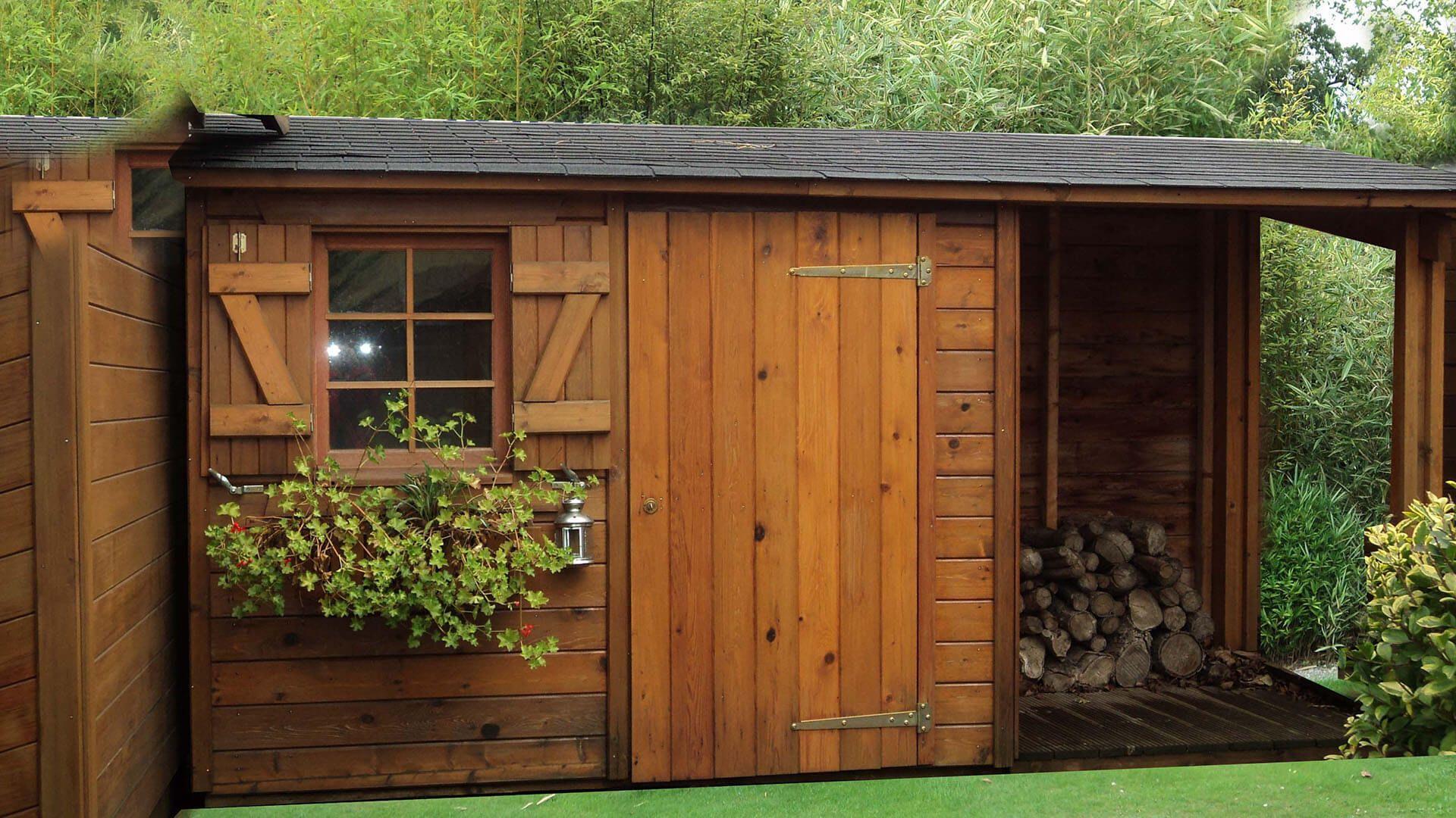 Que Diriez-Vous D'un Abri De Jardin Une Pente Pour Stocker ... concernant Chalet De Jardin Bois