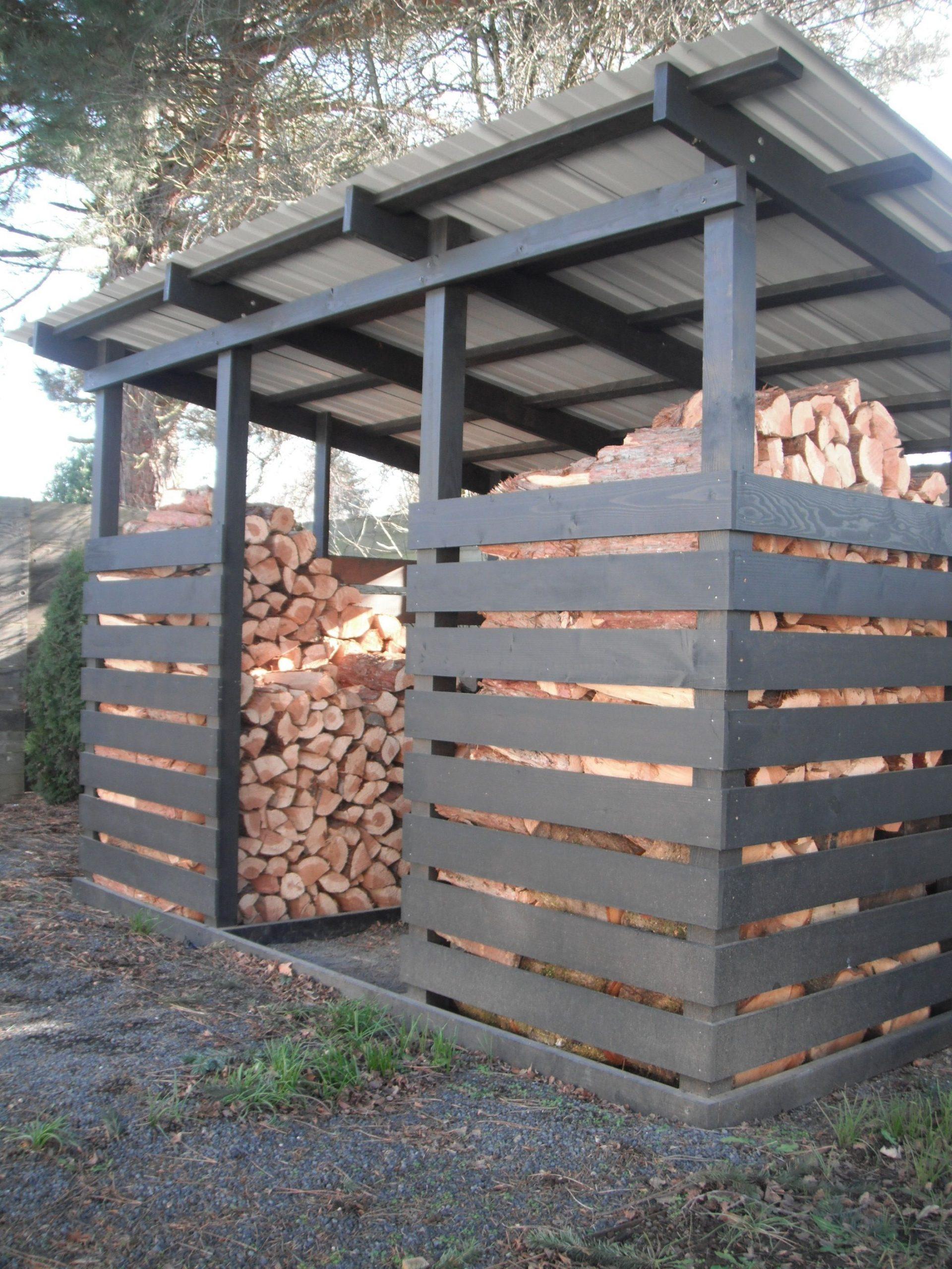 Rangement Bois | Abri Bois De Chauffage, Amenagement Jardin ... serapportantà Hangar Jardin Bois