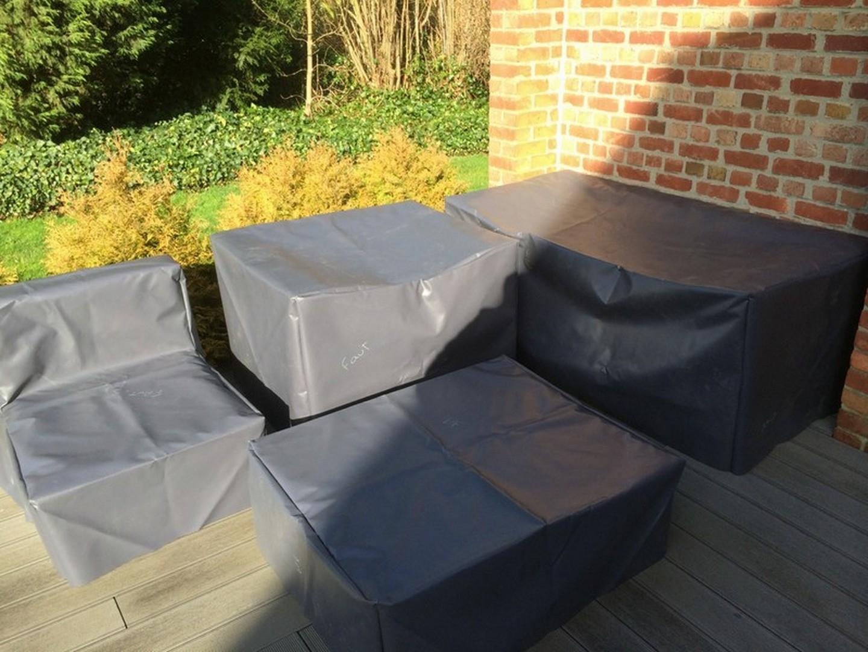 Rectangulaire Noir Anti-Pluie Anti-Uv Sunbick Housse Salon ... destiné Housse De Table De Jardin Ovale