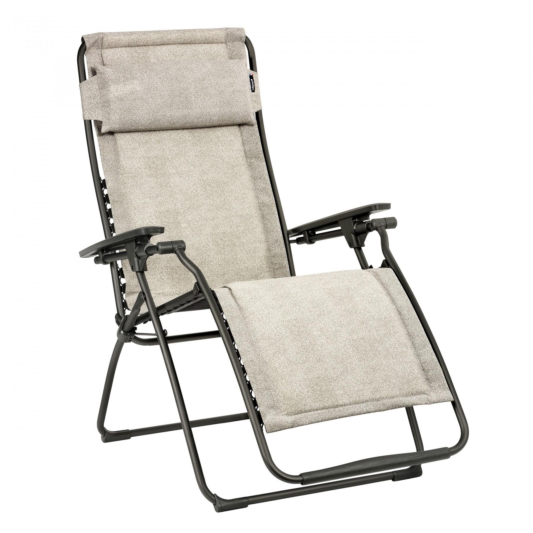 Relaxation Chair Futura Polycotton Chanvre   Lafuma Mobilier tout Relax Lafuma