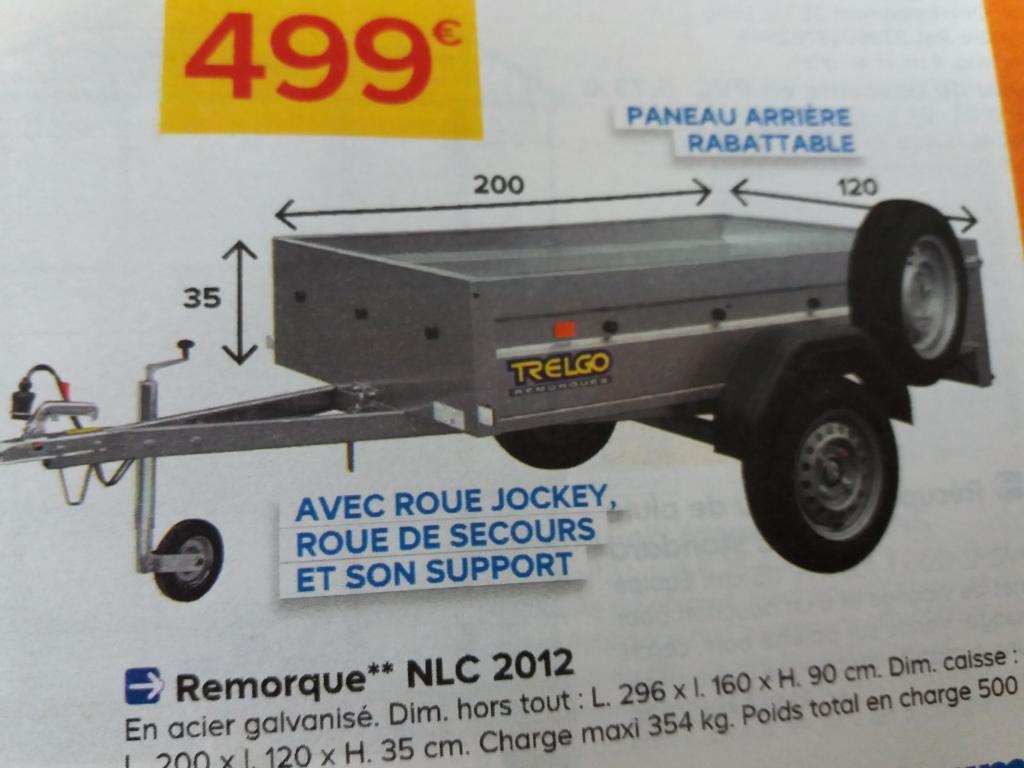 Remorque Auto Trigano Trelgo Nlc-2012 - Avec Roue Jockey + ... pour Remorque Bricoman