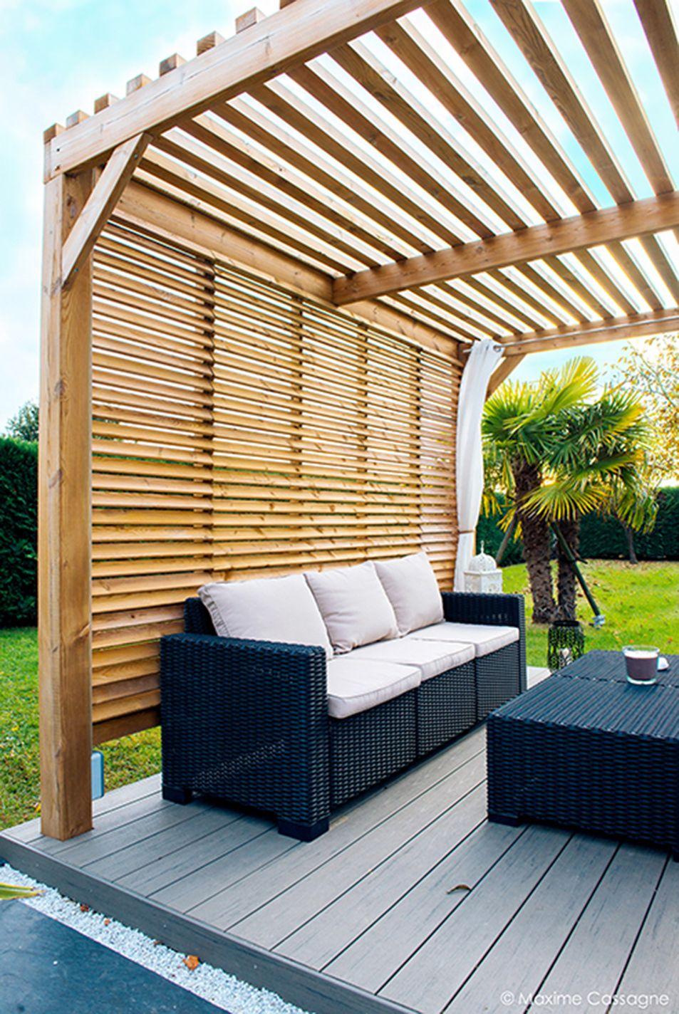 Rénovation En Jardin Contemporain Et Modernisation En Espace ... tout Abri Jardin Contemporain